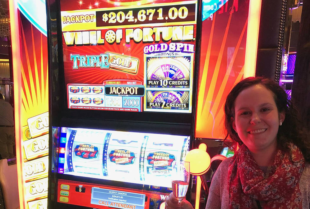 A California woman won a jackpot worth more than $200,000 at The Cosmopolitan of Las Vegas on F ...