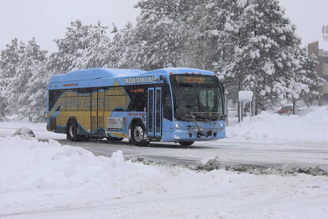 A bus from the Northern Arizona Intergovernmental Public Transportation Authority (NAIPTA) turn ...