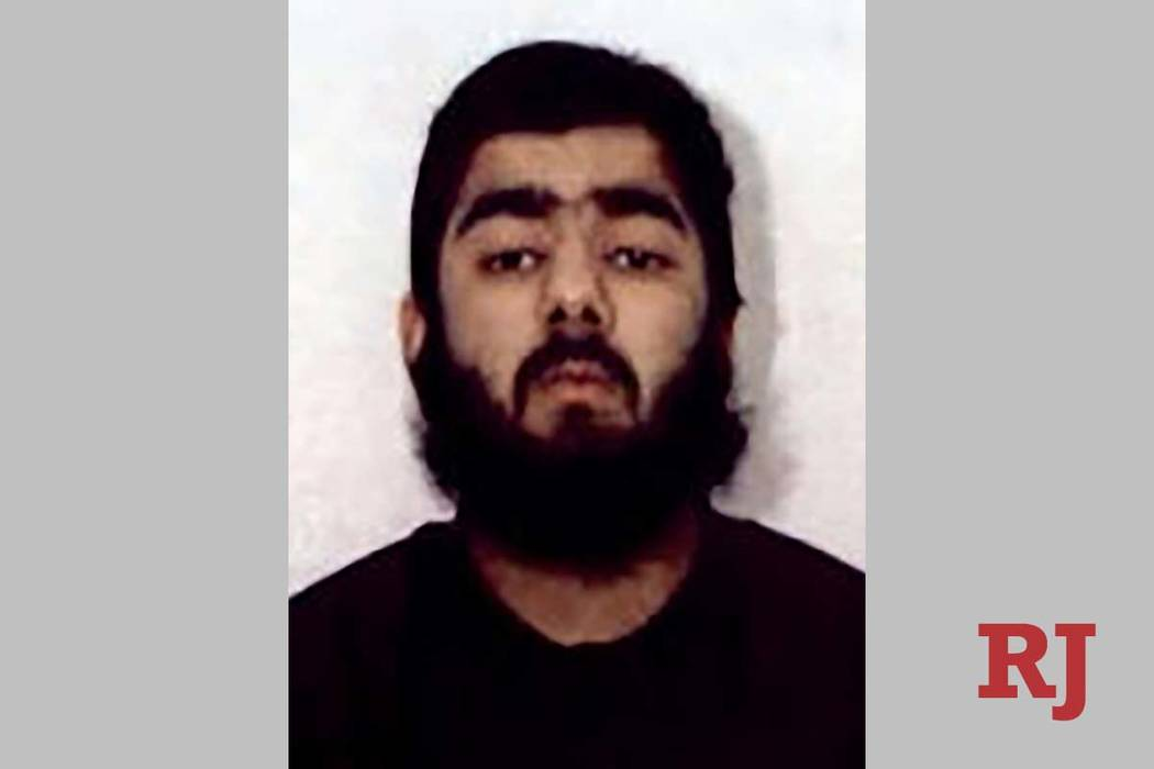 This undated photo provided by West Midlands Police shows Usman Khan. UK counterterrorism polic ...