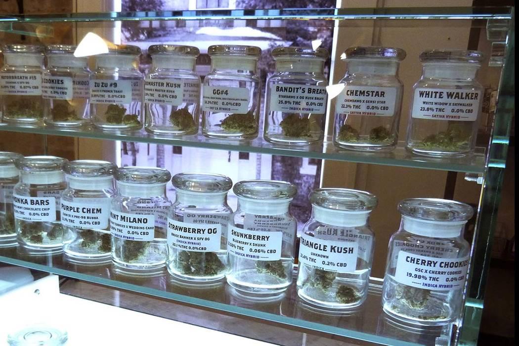 This Nov. 25, 2019 photo shows marijuana on display at Arbors Wellness in the medical marijuana ...