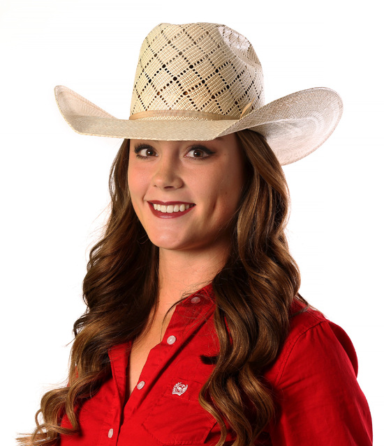 Senior Kendra Cates of the UNLV rodeo team shows how to dress like a cowgirl for National Final ...