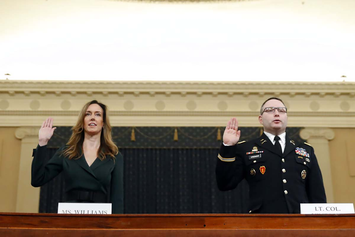 National security witnesses testify in impeachment hearing — LIVESTREAM