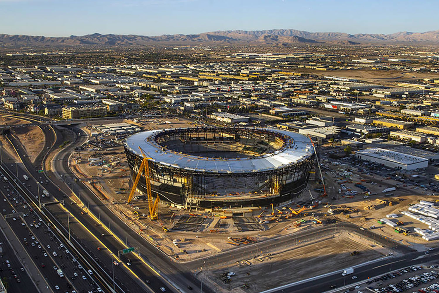 Allegiant Stadium remains on time and on budget