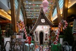 Life-size gingerbread house rises on the Las Vegas Strip
