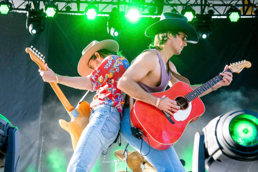 Jess Carson, left, and Mark Wystrach of Midland performs at the Bottle Rock Napa Valley Music F ...
