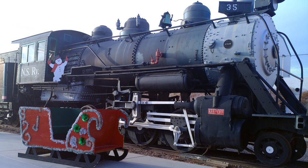 Families can take a 90-minute ride with Santa on Nevada Southern Railway's Pajama Train. (Bou ...