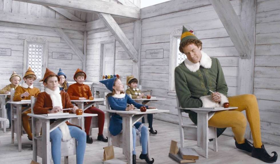 """Will Ferrell, right, stars as Buddy in """"Elf."""" (Alan Markfield, New Line Productions)"""