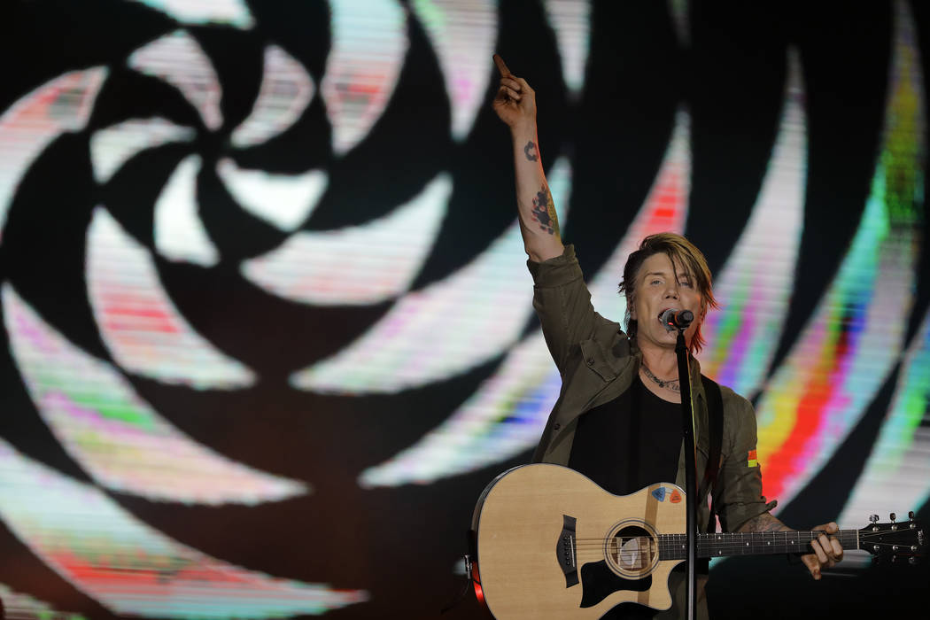 John Rzeznik of the Goo Goo Dolls performs at the Rock in Rio music festival in Rio de Janeiro, ...