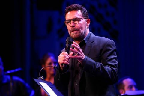 Clint Holmes during the Composers Showcase of Las Vegas at The Smith Center's Cabaret Jazz in L ...