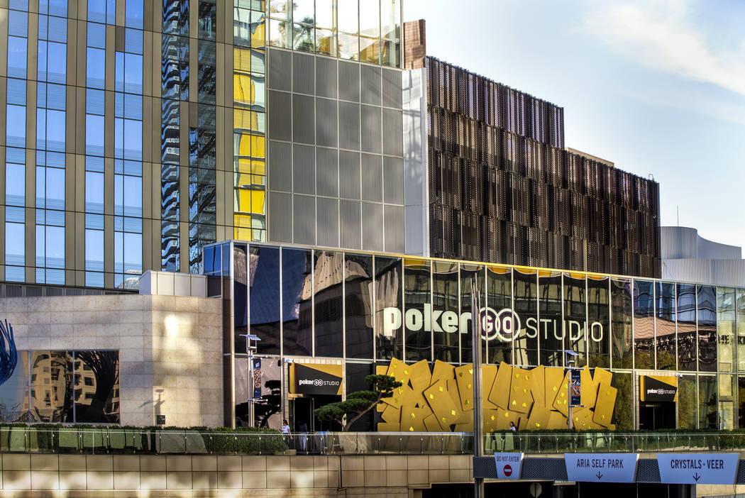 Exterior of the PokerGO Studio at the Aria on Monday, Nov. 11, 2019, in Las Vegas. (L.E. Baskow ...