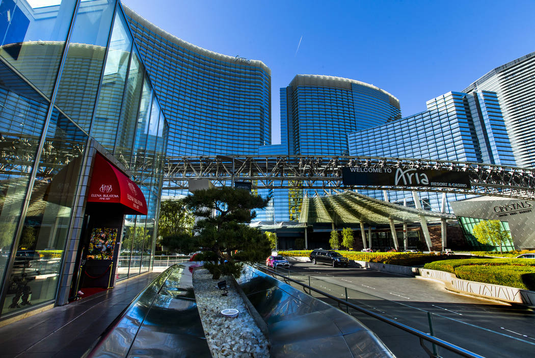 Exterior about gallery row at the Aria on Monday, Nov. 11, 2019, in Las Vegas. (L.E. Baskow/Las ...