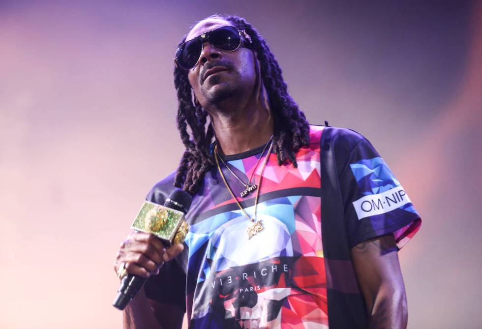 Snoop Dogg performs during the Life is Beautiful festival in downtown Las Vegas on Saturday, Se ...