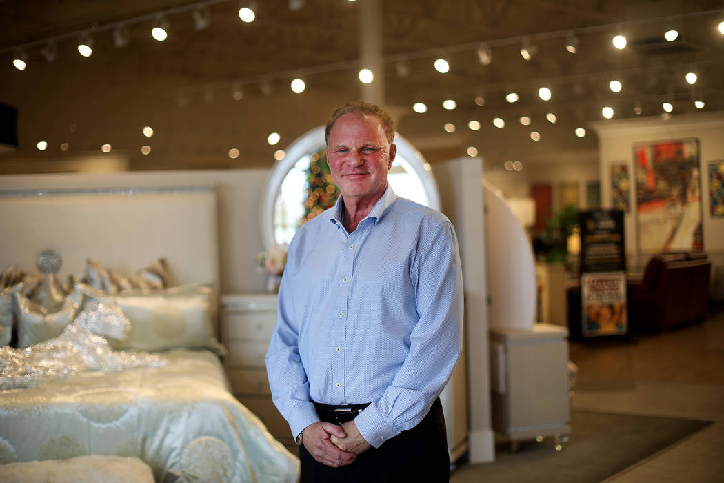 Larry Alterwitz, Walker Furniture CEO, at the Walker Furniture store in Henderson, Tuesday, Nov ...