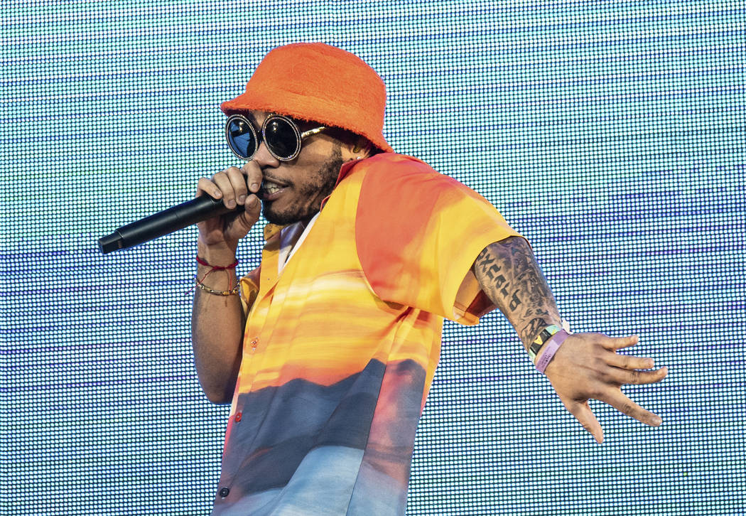 Anderson .Paak performs at the Coachella Music & Arts Festival at the Empire Polo Club on Frida ...