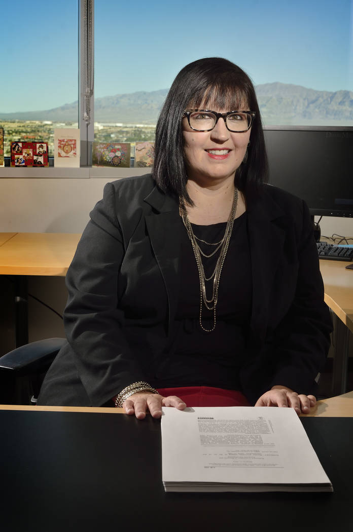 Attorney Jennifer Roberts is shown at the Duane Morris law firm at 100 N. City Parkway in Las V ...