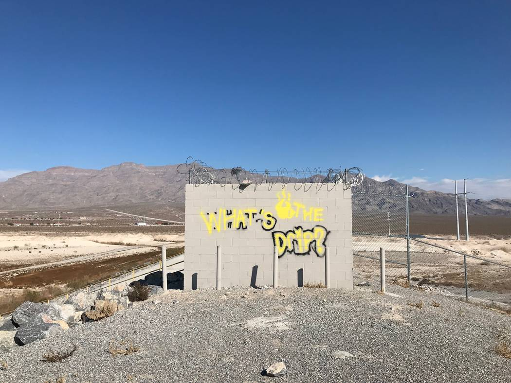 Graffiti can be found all around North Las Vegas, even in remote areas near the mountains. (Ale ...