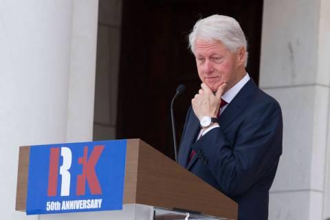 Former President Bill Clinton. (AP Photo/Cliff Owen)