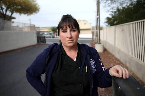 Heather McGonigle, 37, photographed in Las Vegas Friday, Dec. 20, 2019, was a victim of sex tra ...