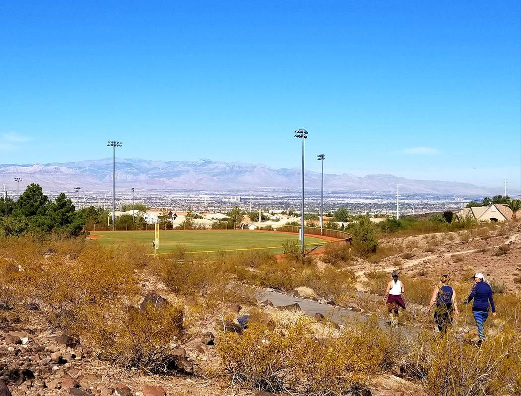 Greater numbers of walkers and runners use the trail system near Anthem Hills Park. Fewer are f ...