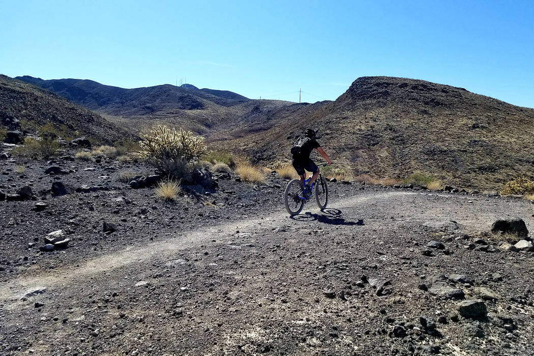 The McCullough Hills Trail caters to mountain bikers and horse riders as well as hikers. (Natal ...