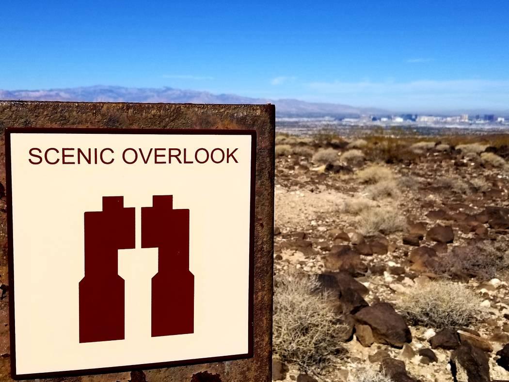 Scenic overlooks provide outstanding views of the Las Vegas Strip. (Natalie Burt)
