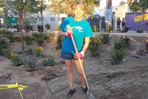Tammie Hampton is pictured while volunteering. Hampton was presented Nov. 5 with Henderson's ...