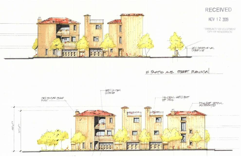 A rendering shows what a downtown Henderson man wants to build in a WWII-era neighborhood. (Cit ...