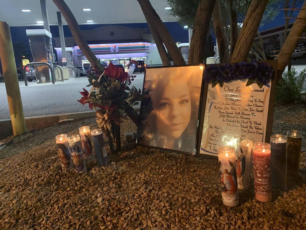 Monique Prado's family set up a memorial Sunday evening at the site of the crash that killed he ...