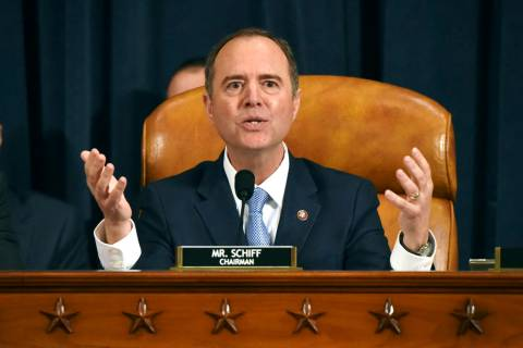 House Intelligence Committee Chairman Adam Schiff, D-Calif., gives final remarks during a heari ...