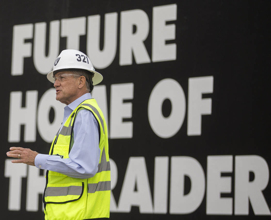 Don Webb, chief operating officer of the LV Stadium Co., discusses features of the future Raide ...