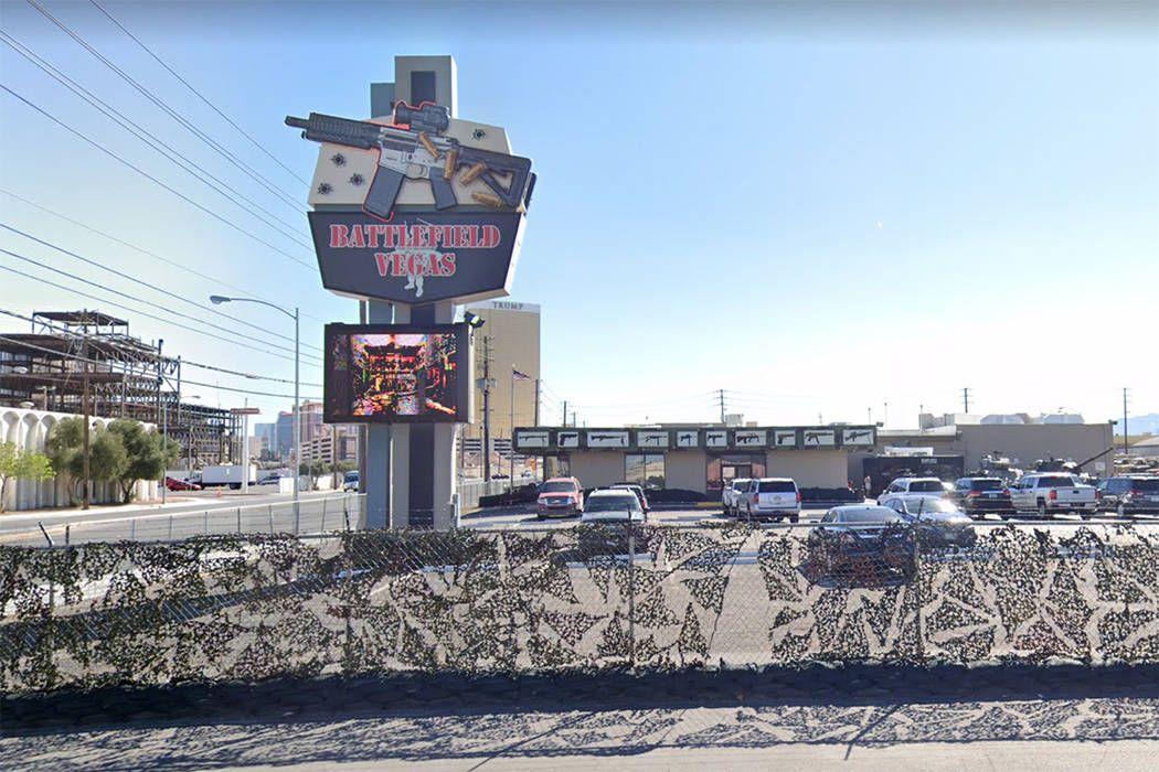 Battlefield Vegas at 2771 Sammy Davis Jr. Drive in Las Vegas is seen in a screenshot. (Google)
