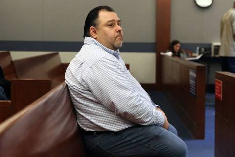 David Marks appears in court during his preliminary hearing at the Regional Justice Center on W ...