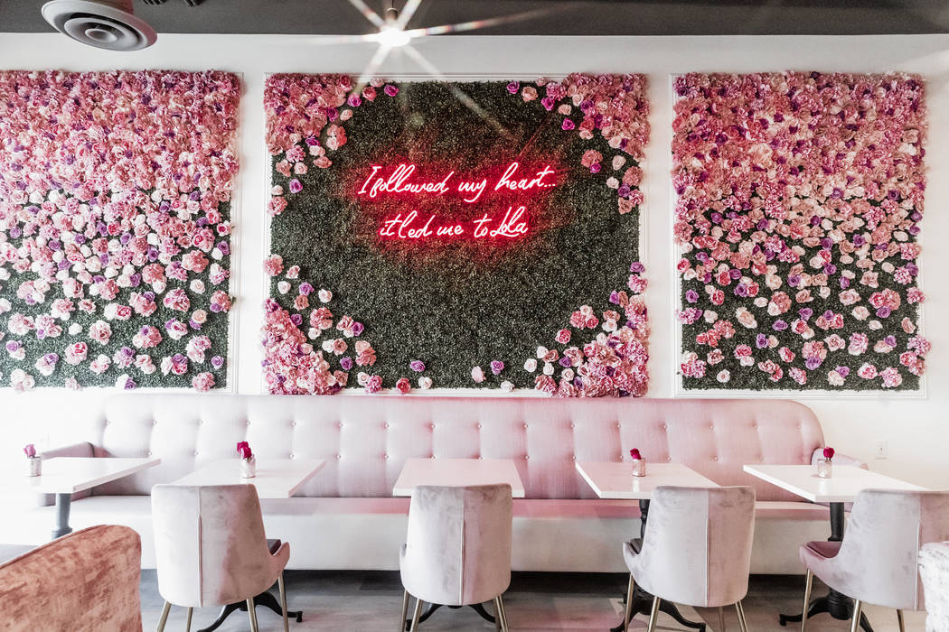 Cafe Lola at 4280 S. Hualapai Way in Las Vegas serves light bites in a feminine cafe. A second ...