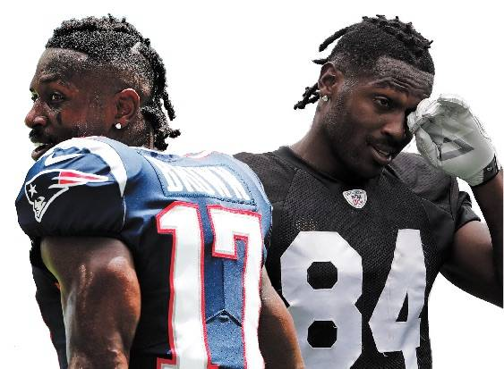 Photos: The Associated Press Mercurial wide receiver Antonio Brown proved to be a disaster for ...