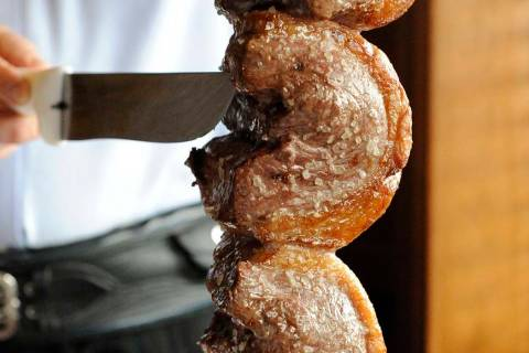 Picanha being served at Fogo de Chao. (Review-Journal file photo)