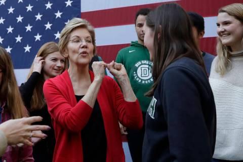 Sen. Elizabeth Warren, D-Mass. (AP Photo/Elise Amendola)