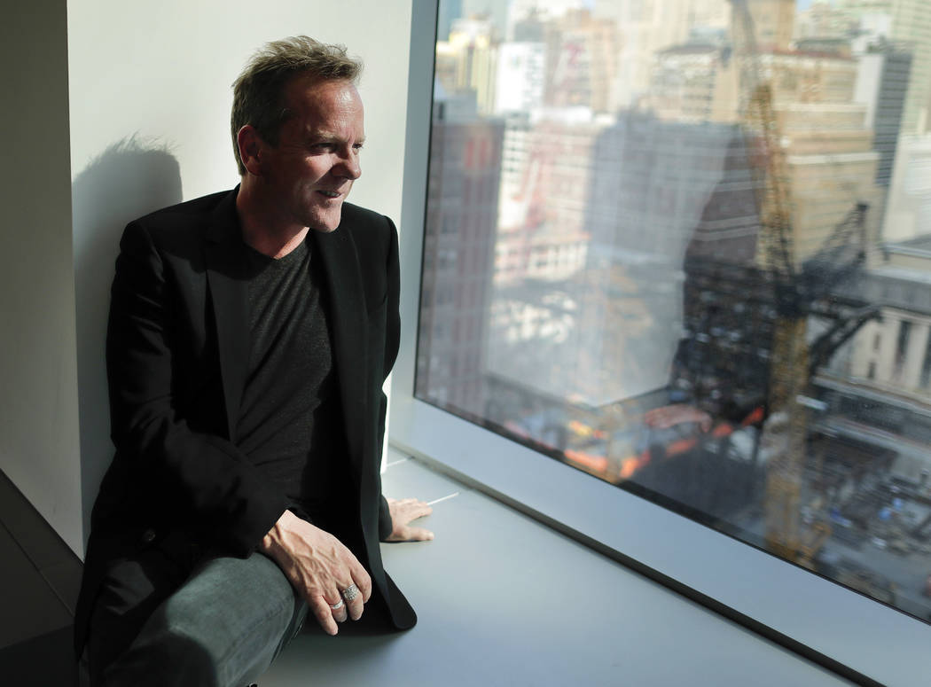 In this Aug. 13, 2016 photo, actor and singer Kiefer Sutherland poses for a photo during an int ...