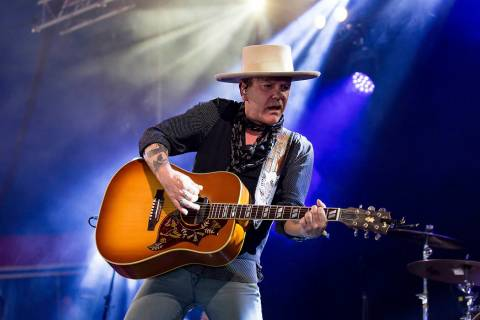 Actor Kiefer Sutherland performs at the Glastonbury Festival at Worthy Farm, in Somerset, Engla ...