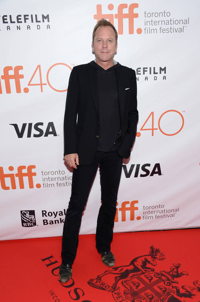 "Kiefer Sutherland attends a premiere for ""Forsaken"" on day 7 of the Toronto Internati ..."