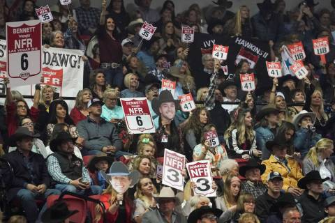 National Finals Rodeo is set to kickoff Thursday, Dec. 5, 2019, at the Thomas & Mack Center in ...
