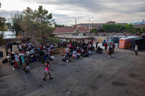 The Courtyard Homeless Resource Center in Las Vegas. (Rachel Aston/Las Vegas Review-Journal) @r ...