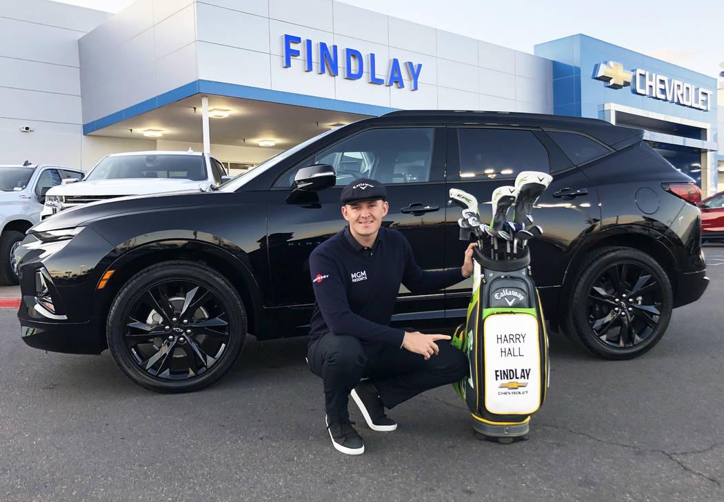 UNLV graduate and professional golfer Harry Hall now drives a 2020 Chevrolet Blazer. (Findlay)