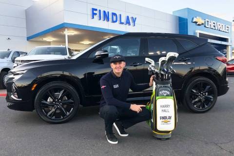 UNLV graduate and professional golfer Harry Hall now drives a 2020 Chevrolet Blazer. (Findlay)