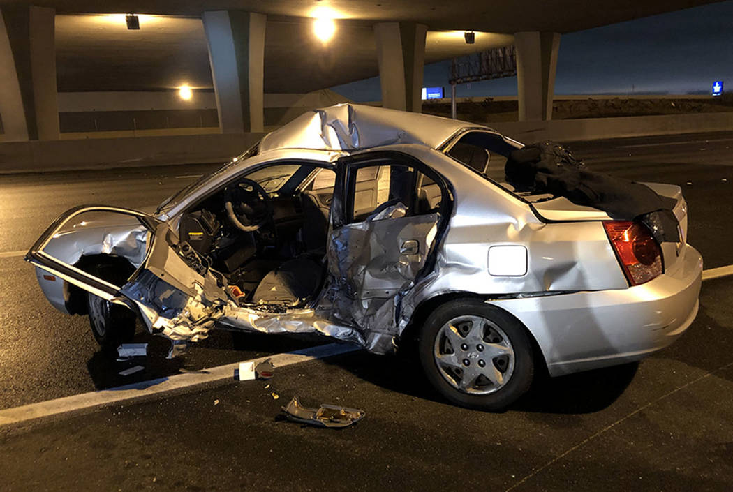 One person was killed in a crash Thursday night on U.S. Highway 95 near Lake Mead Boulevard, ac ...