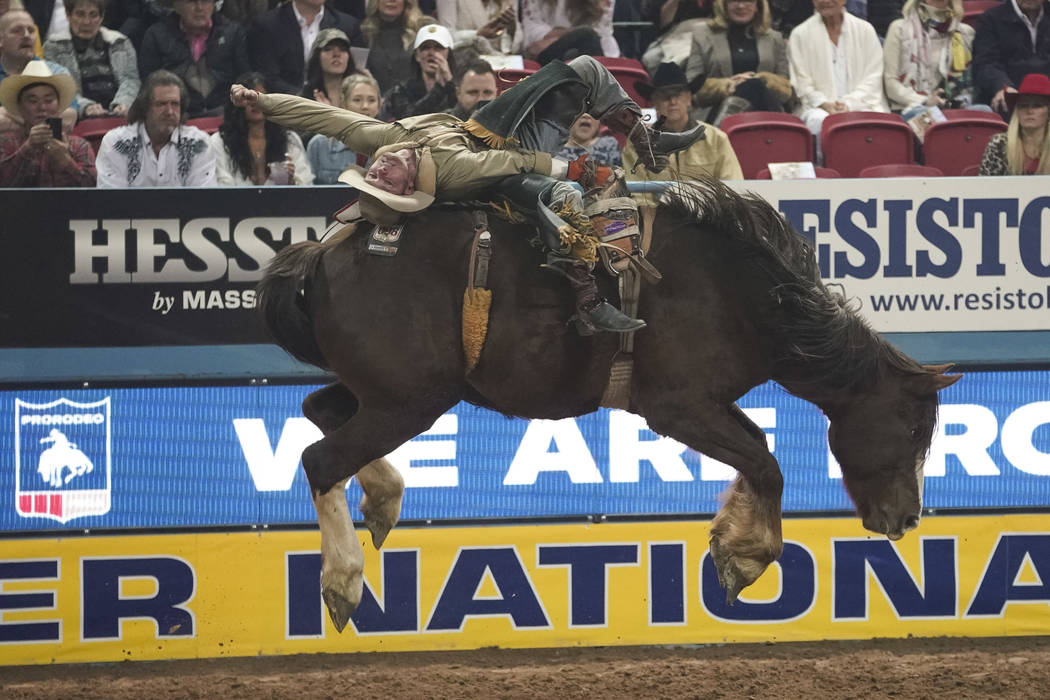National Finals Rodeo at the Thomas & Mack Center in Las Vegas on Thursday, Dec. 13, 2018. Rich ...