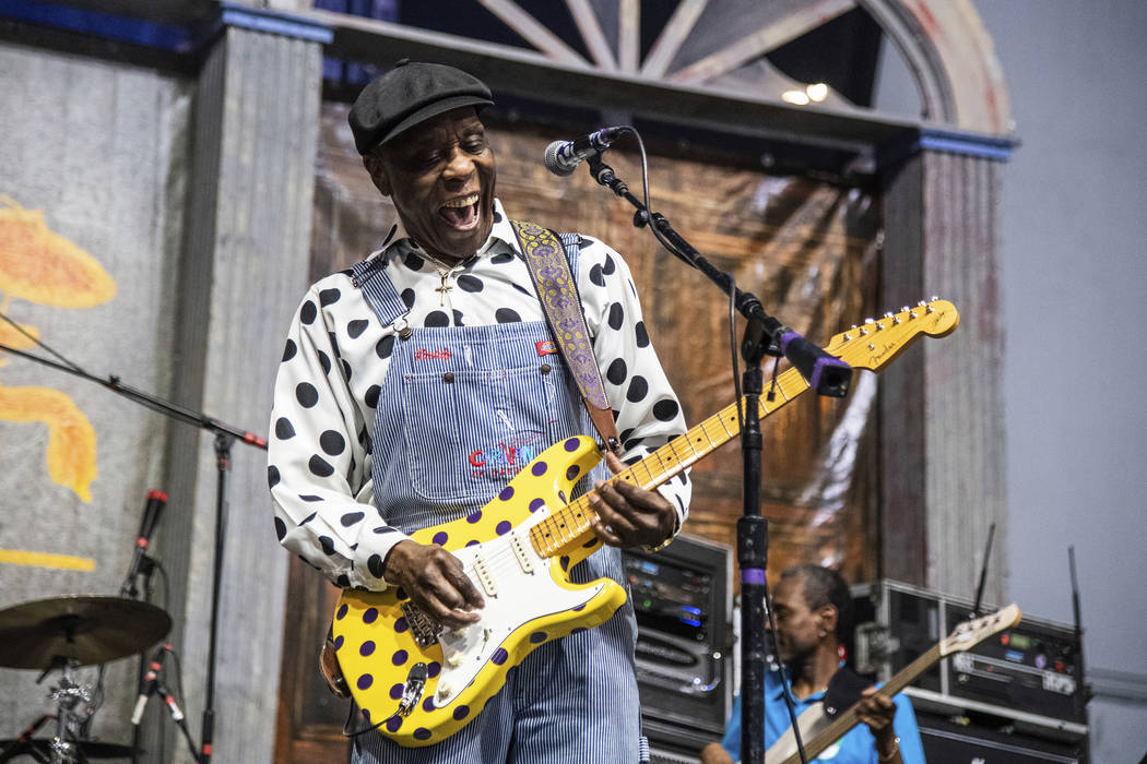 Buddy Guy performs at the New Orleans Jazz and Heritage Festival on Sunday, May 5, 2019, in New ...