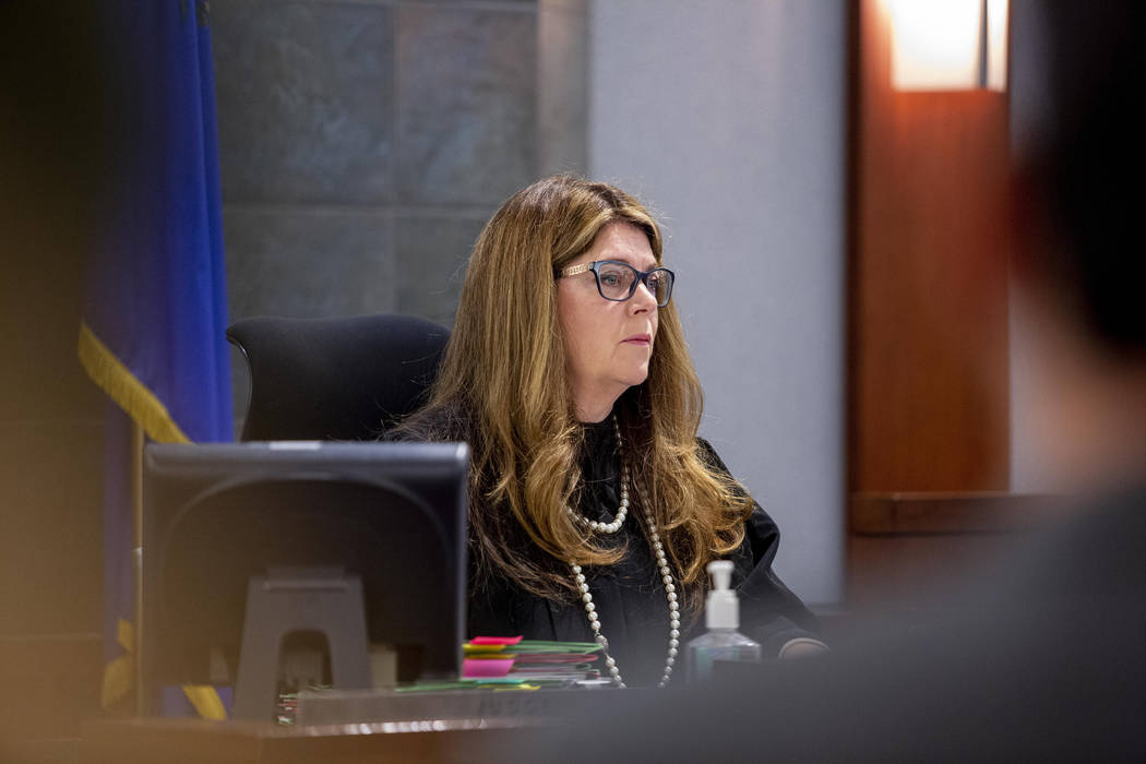 Justice of the Peace Cynthia Cruz listens to defense attorney Craig Mueller on behalf of Nathan ...