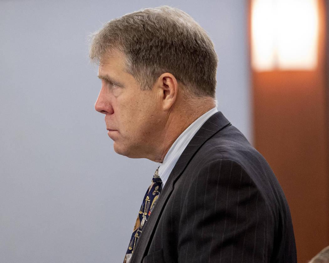 Defense attorney Craig Mueller speaks on behalf of Nathaniel Postelle at the Regional Justice C ...