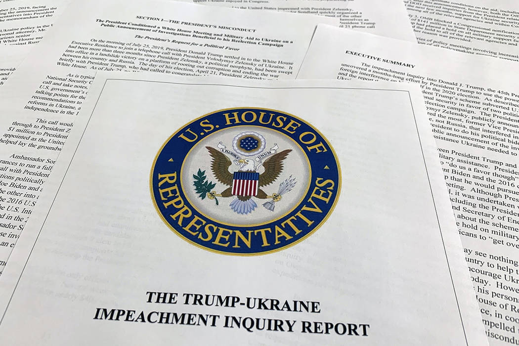 The report from Democrats on the House Intelligence Committee on the impeachment inquiry into P ...