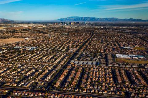 Neighborhoods in the southeast area of the city during an aerial photo taken on Wednesday, Oct. ...